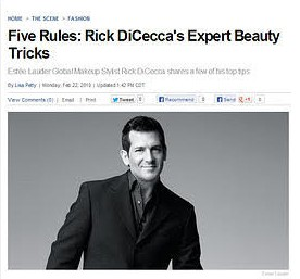 Rick has been featured around the world in print and online publications for his makeup tips