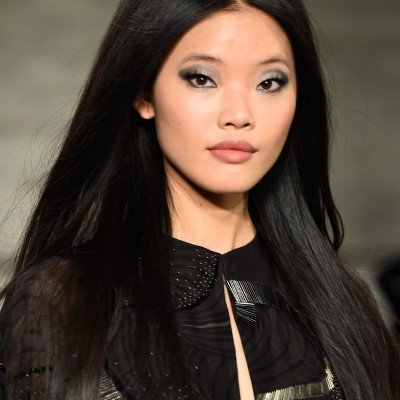 Credit: Getty Images   Rick created makeup looks for Pamella Roland's fall 2015 collection, inspired by Paris in the 70s.