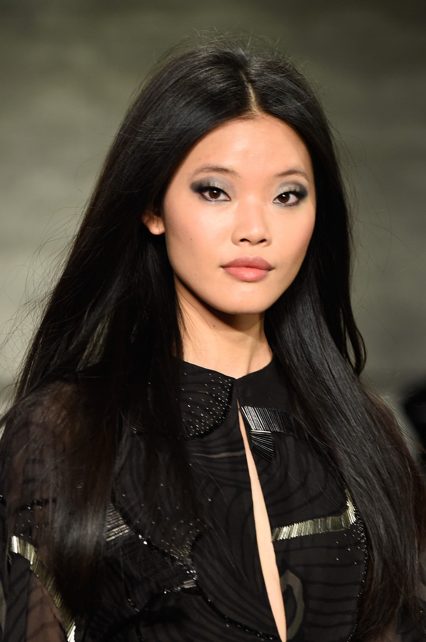 Credit: Getty Images | Rick created makeup looks for Pamella Roland's fall 2015 collection, inspired by Paris in the 70s.