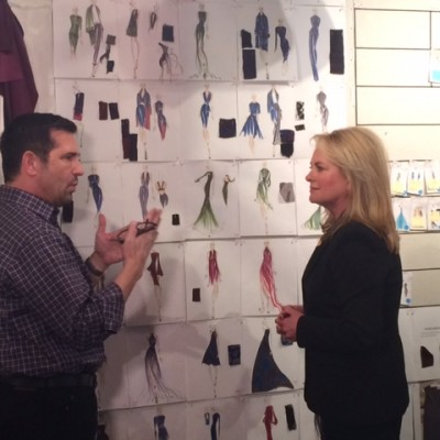 Rick and Pamella Roland prepping for her 2015 Fashion Week Show